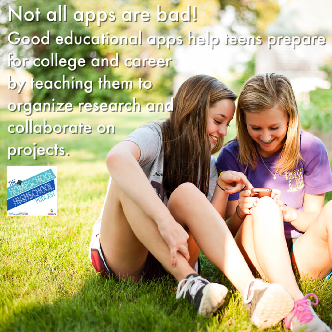 Not all apps are bad. Good educational apps can help teens prepare for college and career.