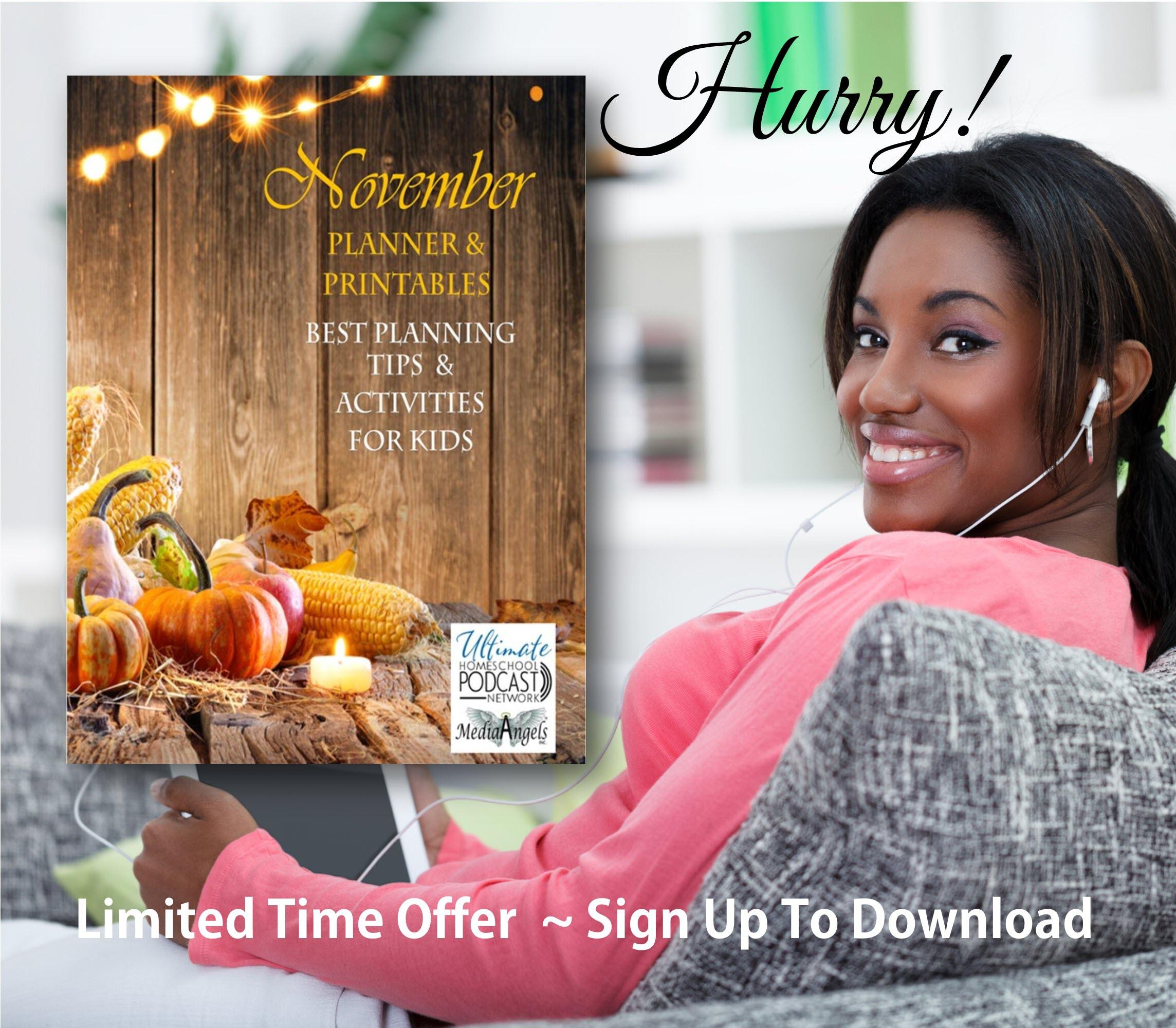 November Planner & Printables | #freebie #UHPN #Freebie