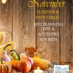 FREE November Planner with Stress Free Checklist and Printables