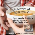 Christmas Season Ministry | Christmas Season Ministry is something we forget because we are so busy. In this episode, we discuss some ways that children can understand the lesson it is better to give. Felice Gerwitz and Denise Mira share their successes with ministry with you! | #podcast #homeschoolpodcast