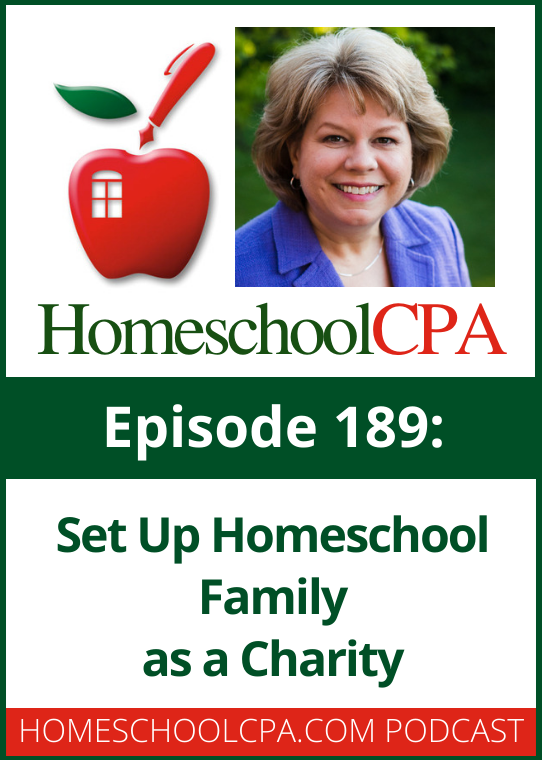 Carol Topp, the Homeschool CPA is sometimes asked if a homeschool family can be a charity.  Sometimes a homeschool spouse wants to set up a business and hire their spouse to homeschool their children. Can this be done?