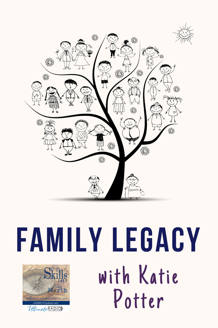Katie Potter joins us this week as we talk about communicating family history to your kids.
