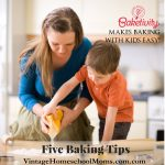 Five Great Tips For Baking with Kids | How much fun is baking? Well, join us as we talk about five tips for baking with kids with Miriam Schwartz from Baketivity. She is a mom of four little ones who shares her best suggestions for making baking time fun with children. | #podcast #homeschoolpodcast #bakingwithkids #fivetipstobakingwithkids #baketivity #bakingwithkids #kidsbaking #miriamschwartz #cookingkits #kidscookingtips