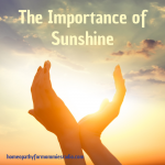 The Importance of Sunshine