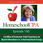 Conflict of Interest: Paid Teachers as Board Members in a Homeschool Group