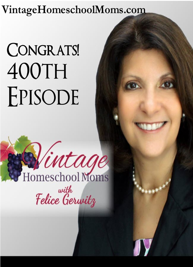 Homeschool Moms Podcast | Who has enough information for homeschool moms to fill 400 podcast episodes? None other than Felice Gerwitz! With a love for families and kids and after spending most of her adult life as a homeschool mom, Felice shares her heart with her thousands of listeners. | #podcast #homeschoolpodcast #homeschoolblog #justformoms #Christianpodcast #kidsandhomeschool