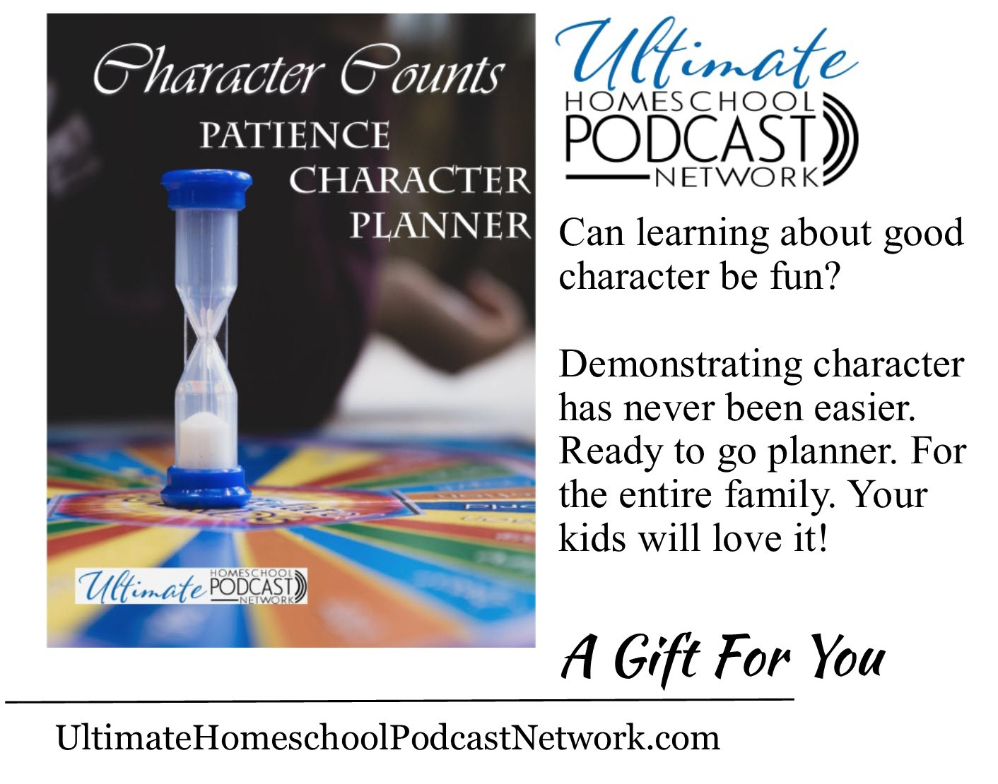 Character Counts Patience Character Planner | #characterplanner #characterkids #teachingcharacter #UHPN #ultimatehomeschoolpodcastnetwork