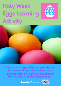 Holy Week Egg Activity