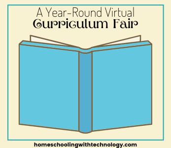 A year-round virtual curriculum fair for homeschoolers