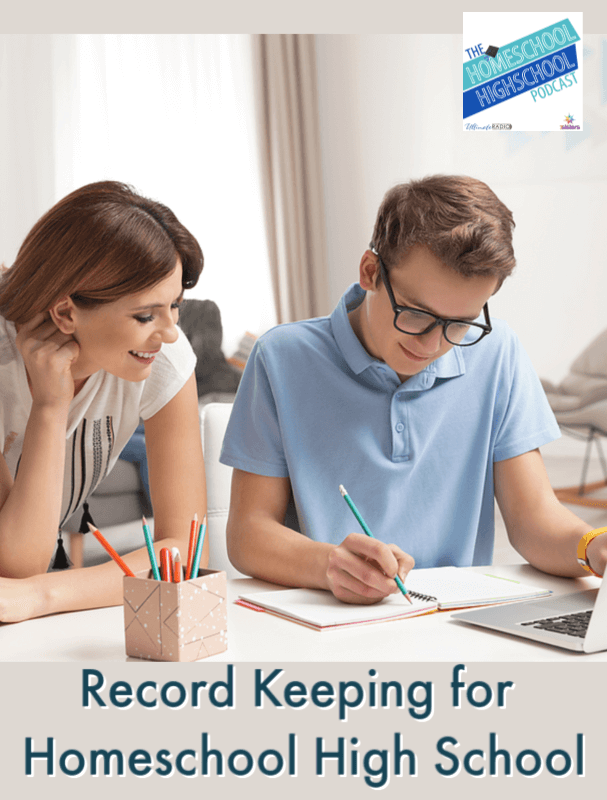 Record Keeping for Homeschool High School. How do figure out a style of record keeping that actually works for you and your teen? 7Sisters has help!
