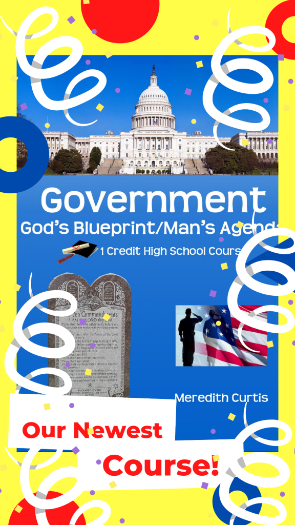 Government: God's Blueprint/Man's Agenda by Meredith Curtis available at PowerlineProd.com