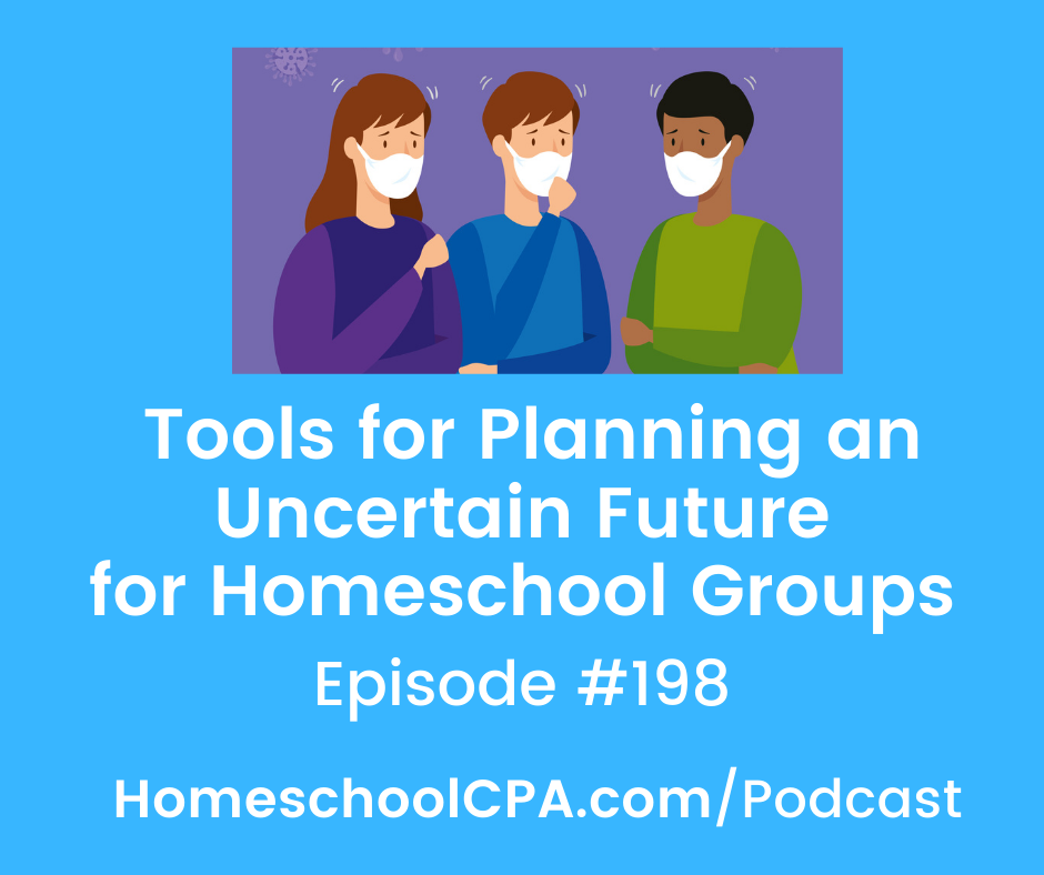 Join this episode on using a decision matrix as Carol and three panelists discuss tools a homeschool group can use for planning an uncertain future!