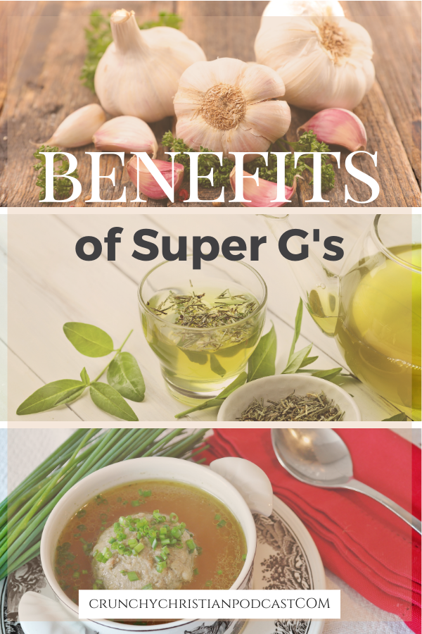 Check out the benefits of garlic, green tea, and guts.