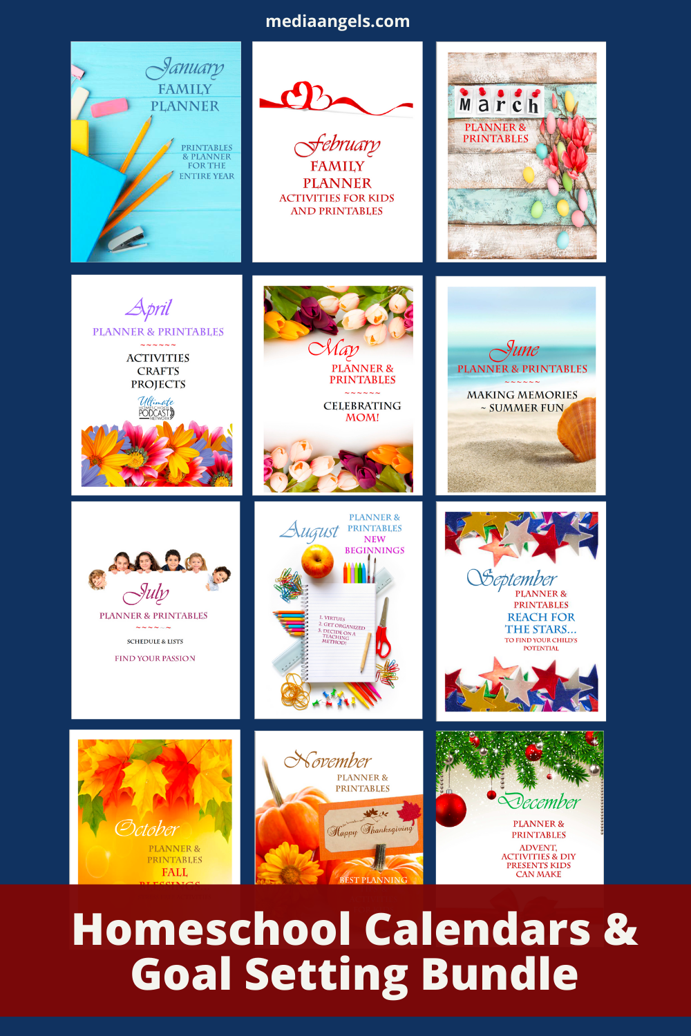 Homeschool Planner Bundle and Encouragement for Mom FREEBIE