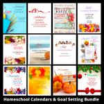 Homeschool Planner Bundle and Encouragement for Mom FREEBIE