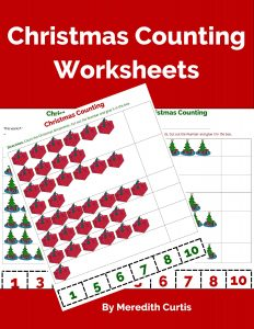 Christmas Counting Worksheets by Meredith Curtis