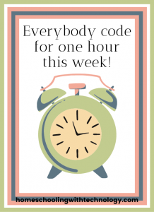 Code for an Hour during this year's Hour of Code