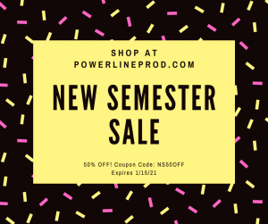 Powerline Productions New Semester Sale 2021 - 50% off with coupon code