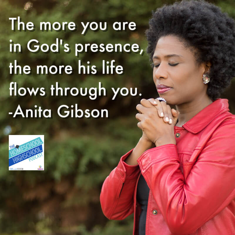 The more you are  in God's presence,  the more his life  flows through you. -Anita Gibson