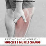 A good place to start our discussion of Homeopathic First Aid, and one that tends to affect all of us at some time in our lives is: Muscles.