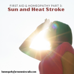 First Aid and Homeopathy Part 3 – Sun and Heat Stroke