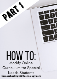 How to modify online curriculum for special needs students