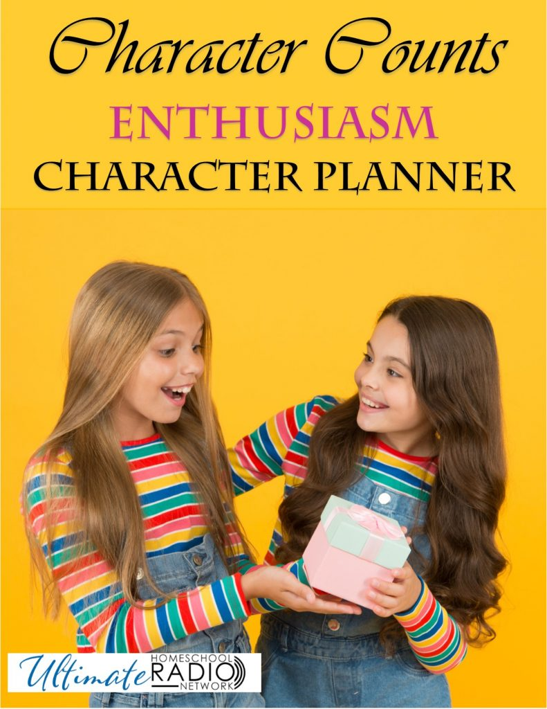 Do your children need help being joyful and enthusiastic? This character planner will give you some great tips and printables to guides your children.