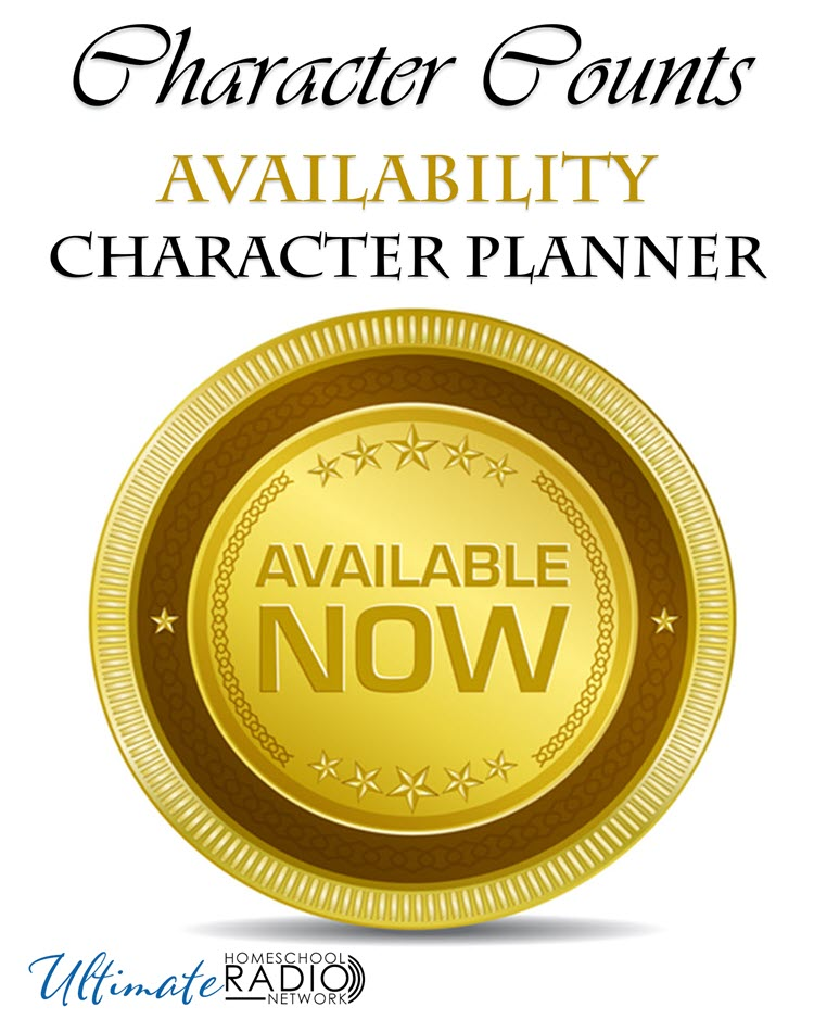 Character Counts Availability Character Planner text with Available now image.