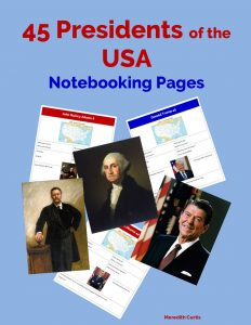45 Presidents of the USA Notebooking Pages by Meredith Curtis