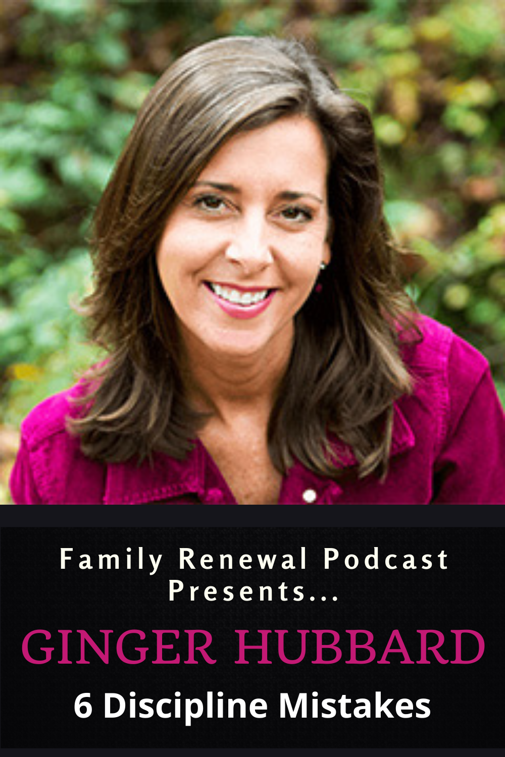 """Ginger Hubbard and Israel Wayne discuss """"Six Discipline Mistakes Parents Make."""" Ginger tells a great story about how she became a published author and how God led her to becoming a sought-after conference speaker and voice for Biblical parenting."""
